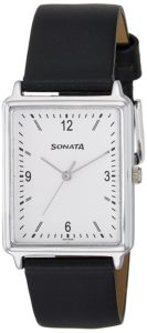 Sonata Essentials Analog Silver Dial