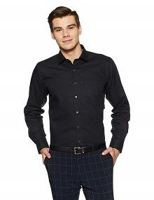Van Heusen's Solid Regular Fit Formal Shirt
